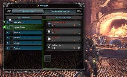 Track Your Materials For Weapon Forging / Upgrades