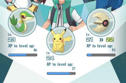Pokemon Masters Accumulate XP