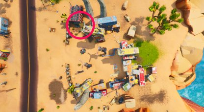 Vault Symbol Locations Southern Bandit Camp Birds Eye View