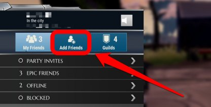 Navigate To The Add Friends Tab