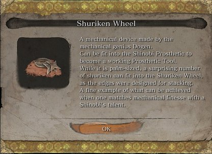 Shuriken Wheel Required To Craft
