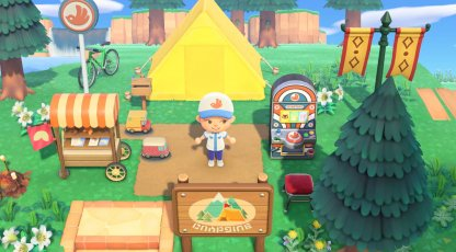 Pocket Camp-themed Furniture In New Horizons