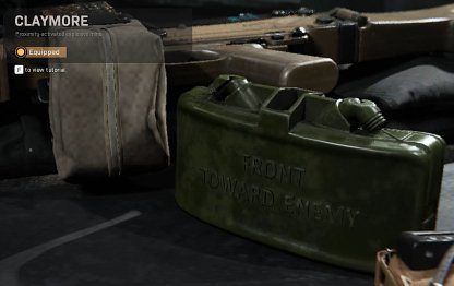 Claymore Lethal Equipment