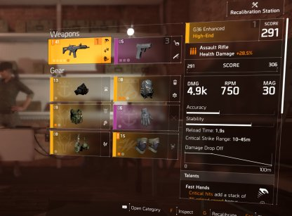 Choose Weapon & Gear That You Want To Augment