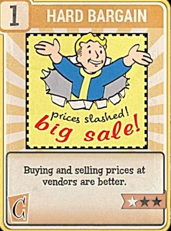 Fallout 76 Perk Card Charisma Field Hard Bargain