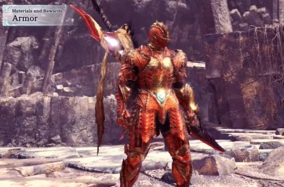 Red & Gold Hunter Armor Design