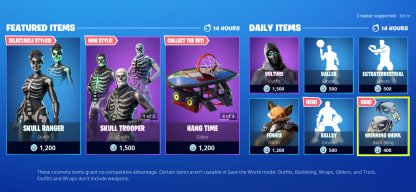 Item Shop Renewed With The Update