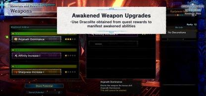 Unlocks Awakened Ability when Upgraded