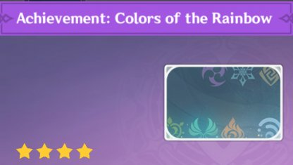 Complete To Get Achievement: Colors Of The Rainbow Namecard