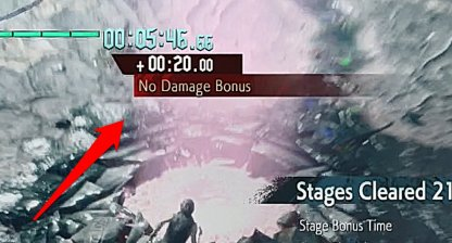 Not Taking Damage Rewards Bonus Time
