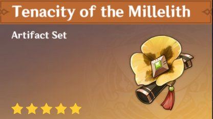 Tenacity of the Millelith Set