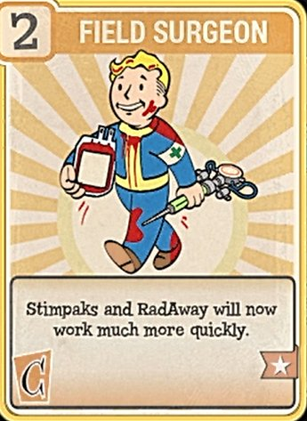 Fallout 76 Perk Card Charisma Field Surgeon