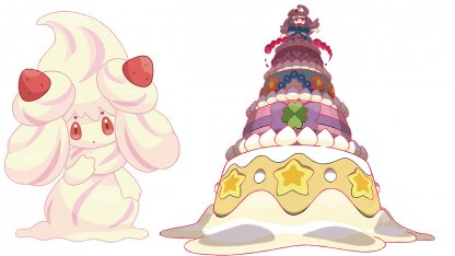Alcremie Regular and Gigantamax