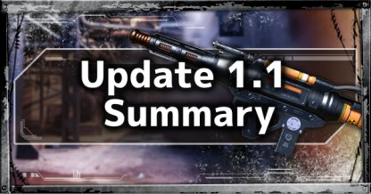 Update 1.1 Patch Notes Summary