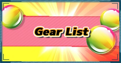 All Gear List