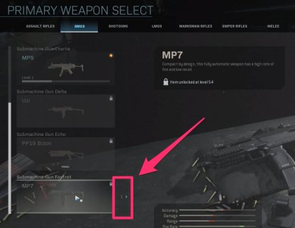 Locate the gun in your weapon blueprint