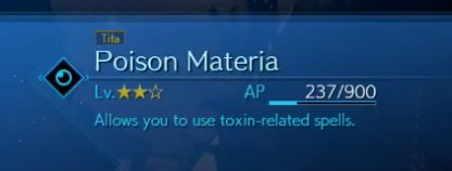 Equipped AP Materia
