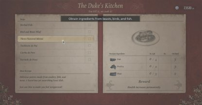 Cooking Stat Buffs