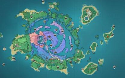 Watatsumi Island Chest Map