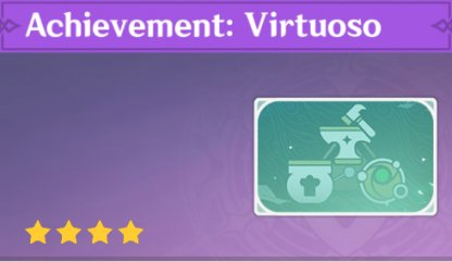 Complete To Get Achievement: Virtuoso Namecard