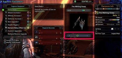 Fill Up Master Rank Weapon Augment Slots