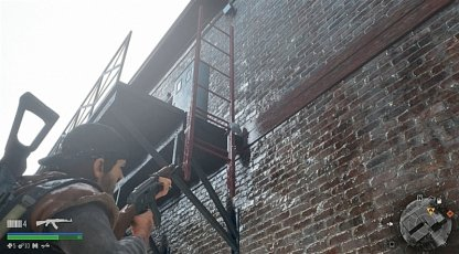 Shoot The Latch On The Ladder