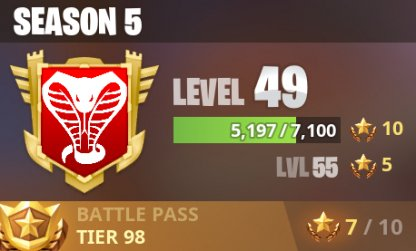 View Your Level And Battle Pass Tier