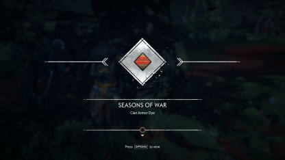 Receive Seasons Of War Armor Dye