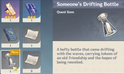 Requires Drifting Bottle Item Found In Dragonspine