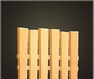 Vertical-Board Fence