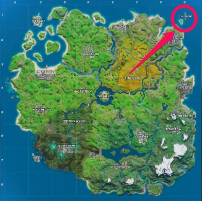 The Yacht Map Location