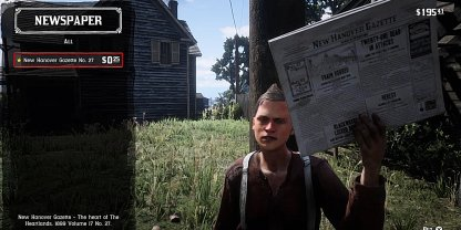 Red Dead Redemption Newspaper Cheat Codes