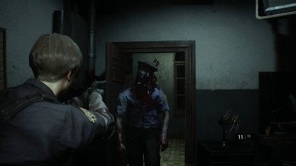 Resident Evil 2 Demo First Zombie