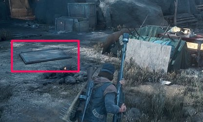 Bunker Entrance Is By Campfire