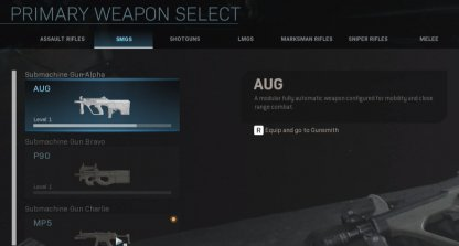 Select the weapon category