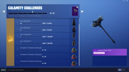 Fortnite | CALAMITY Challenge - Skin Review: Leveling Guide