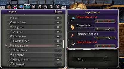 Obtain Imbrued Fang Crafting Material