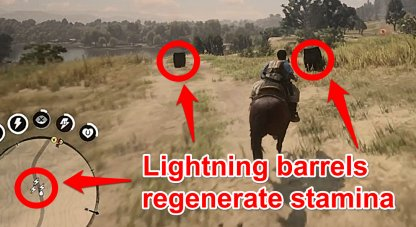 Run Over Barrels To Regenerate Stamina