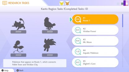 Complete Research Tasks For Pokedex