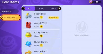All Held Items
