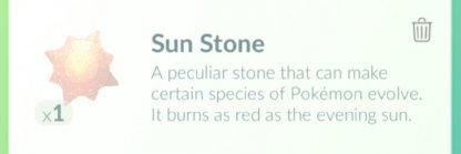 Pokemon Go, Sun Stone
