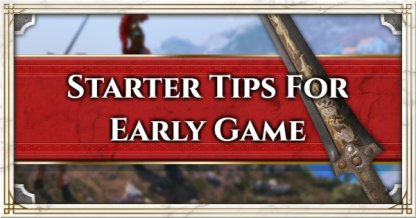Starter Tips For Early Game
