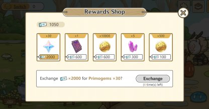 Slime Paradise Event - Rewards Shop