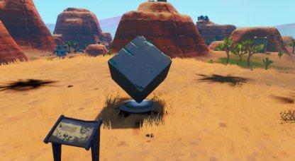 Cube Memorials Desert Location Close Up