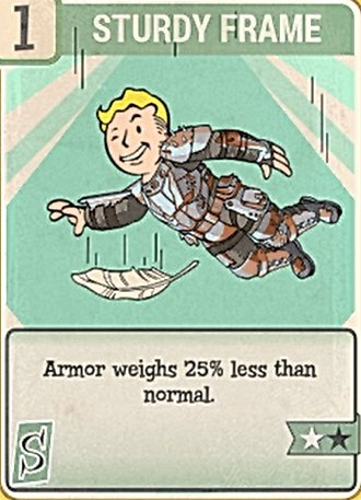 Fallout 76 Perk Card Strength Sturdy Frame
