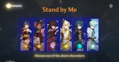 Choose A Free Characters For 1.3 Stand By Me Event