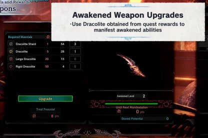 Use Dracolite To Upgrade Awakened Weapons