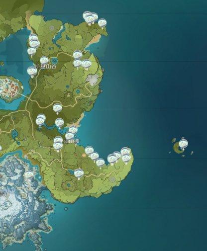 Slime Location Map - West Mondstadt