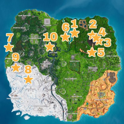 Season 8 Secret Battle Star / Battle Star Location