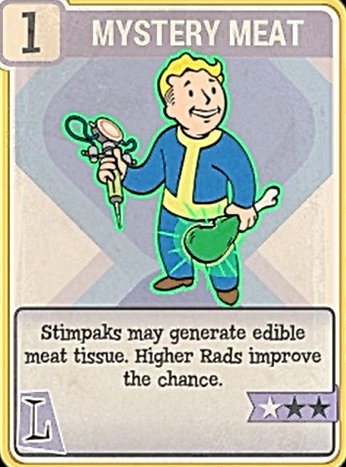 Fallout 76 Perk Card Luck Mystery meat